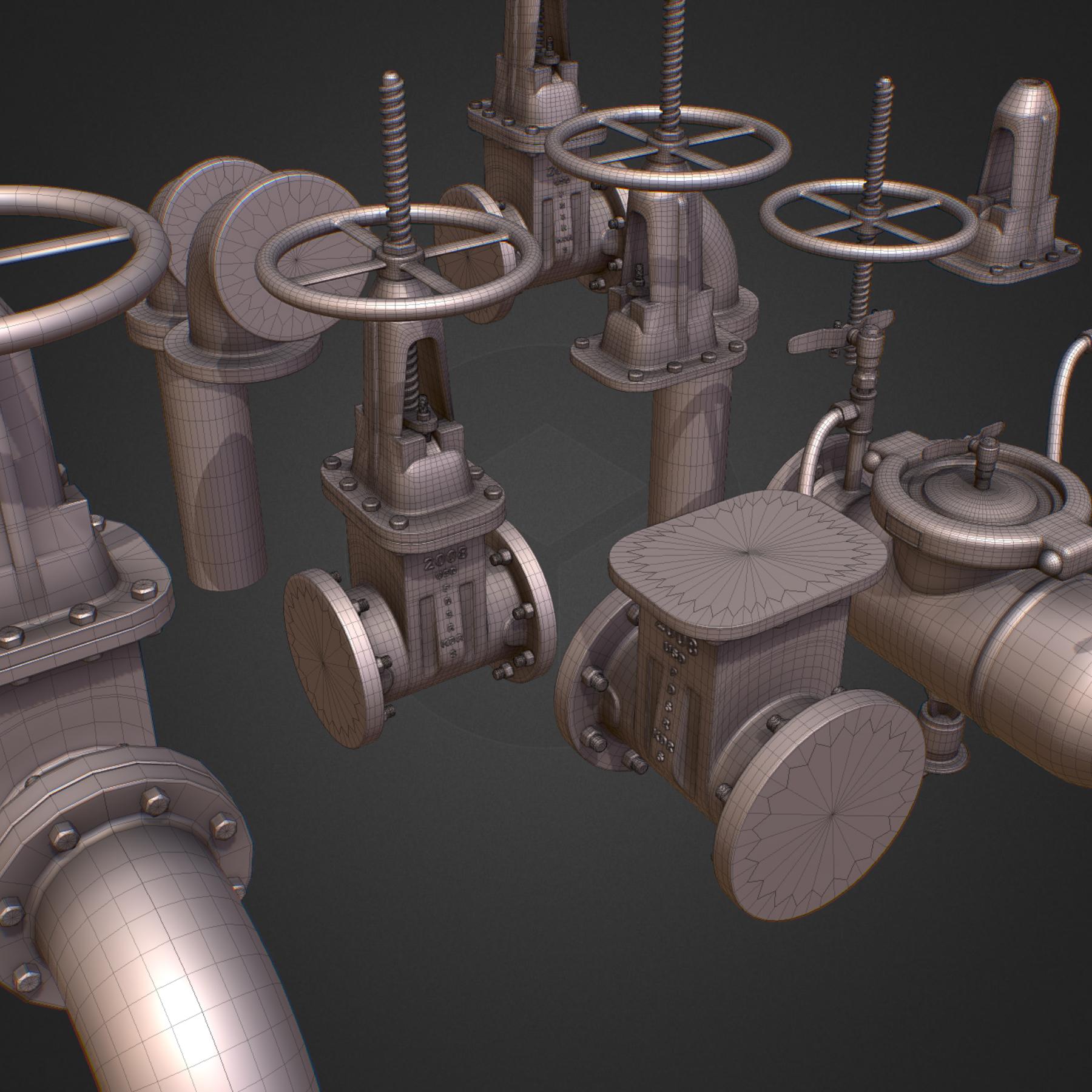 hi poly subdivision backflow pipe constructor 3d model max  fbx ma mb obj 272507