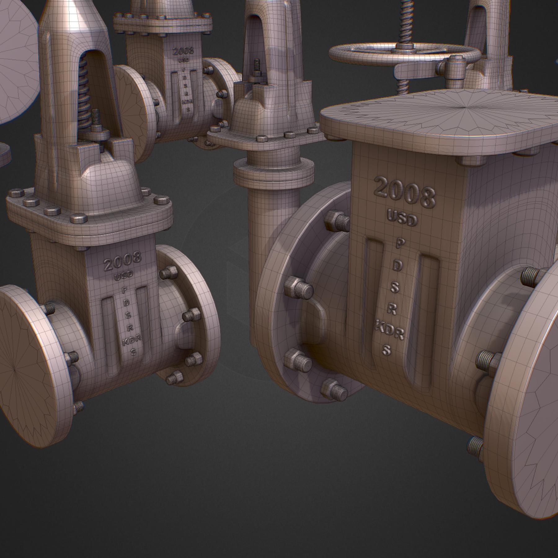 hi poly subdivision backflow pipe constructor 3d model max  fbx ma mb obj 272511