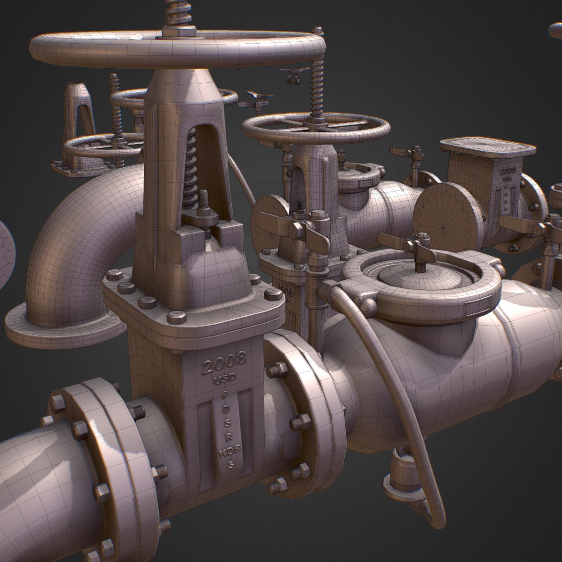 hi poly subdivision backflow pipe constructor 3d model max  fbx ma mb obj 272514