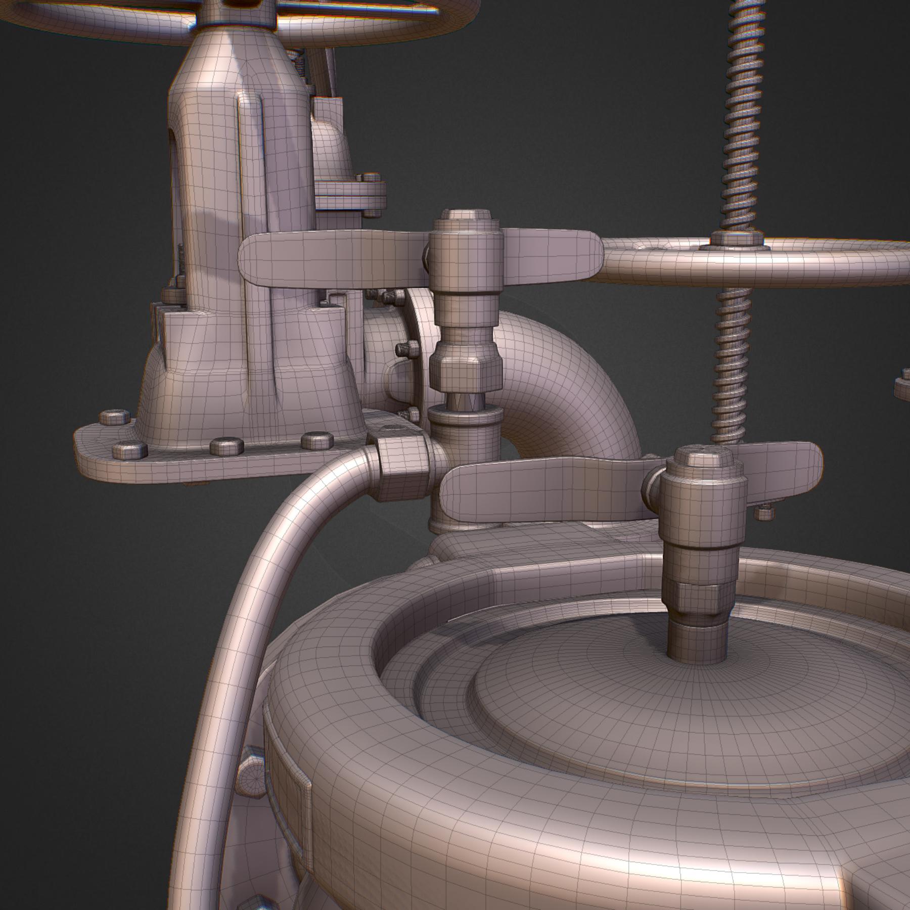 hi poly subdivision backflow pipe constructor 3d model max  fbx ma mb obj 272517