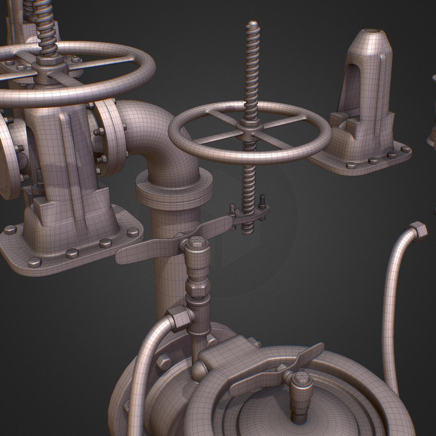 hi poly subdivision backflow pipe constructor 3d model max  fbx ma mb obj 272518