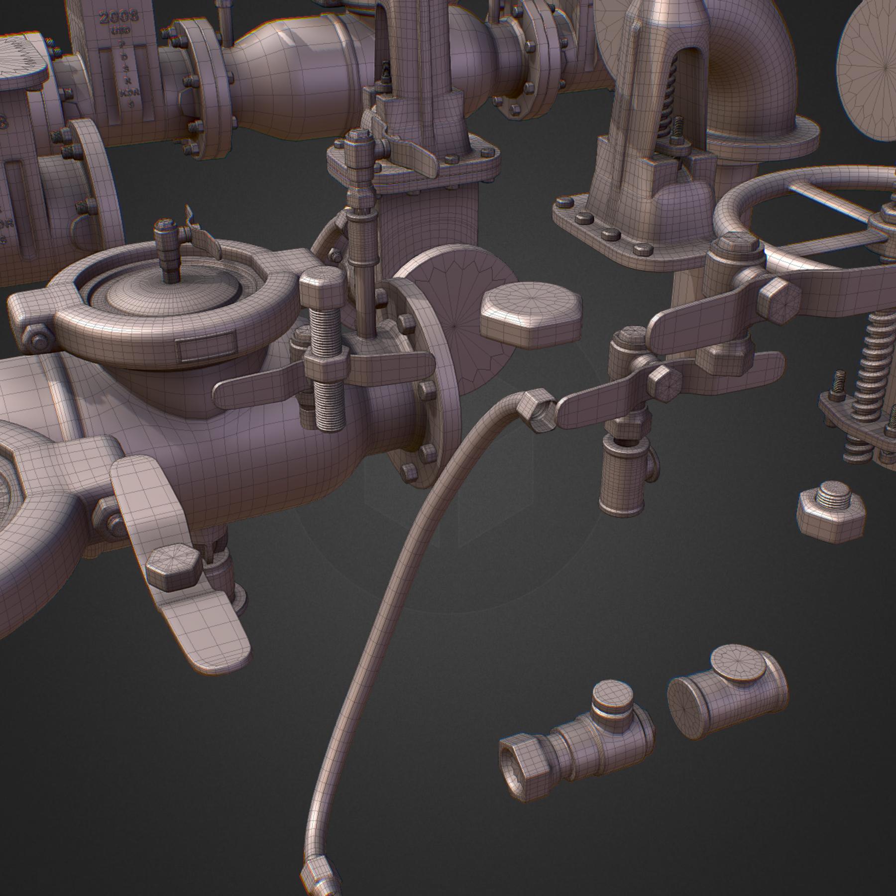 hi poly subdivision backflow pipe constructor 3d model max  fbx ma mb obj 272520