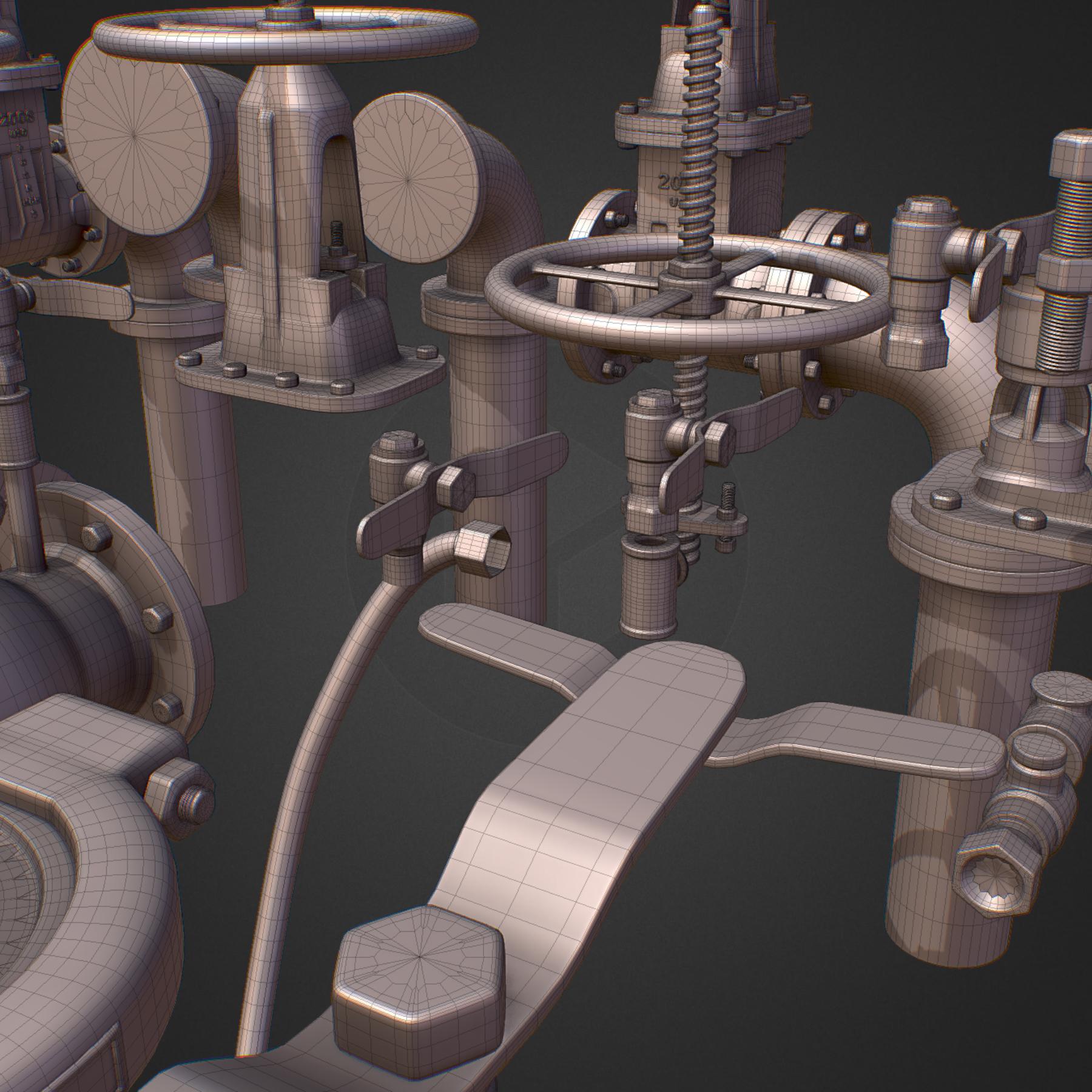 hi poly subdivision backflow pipe constructor 3d model max  fbx ma mb obj 272521