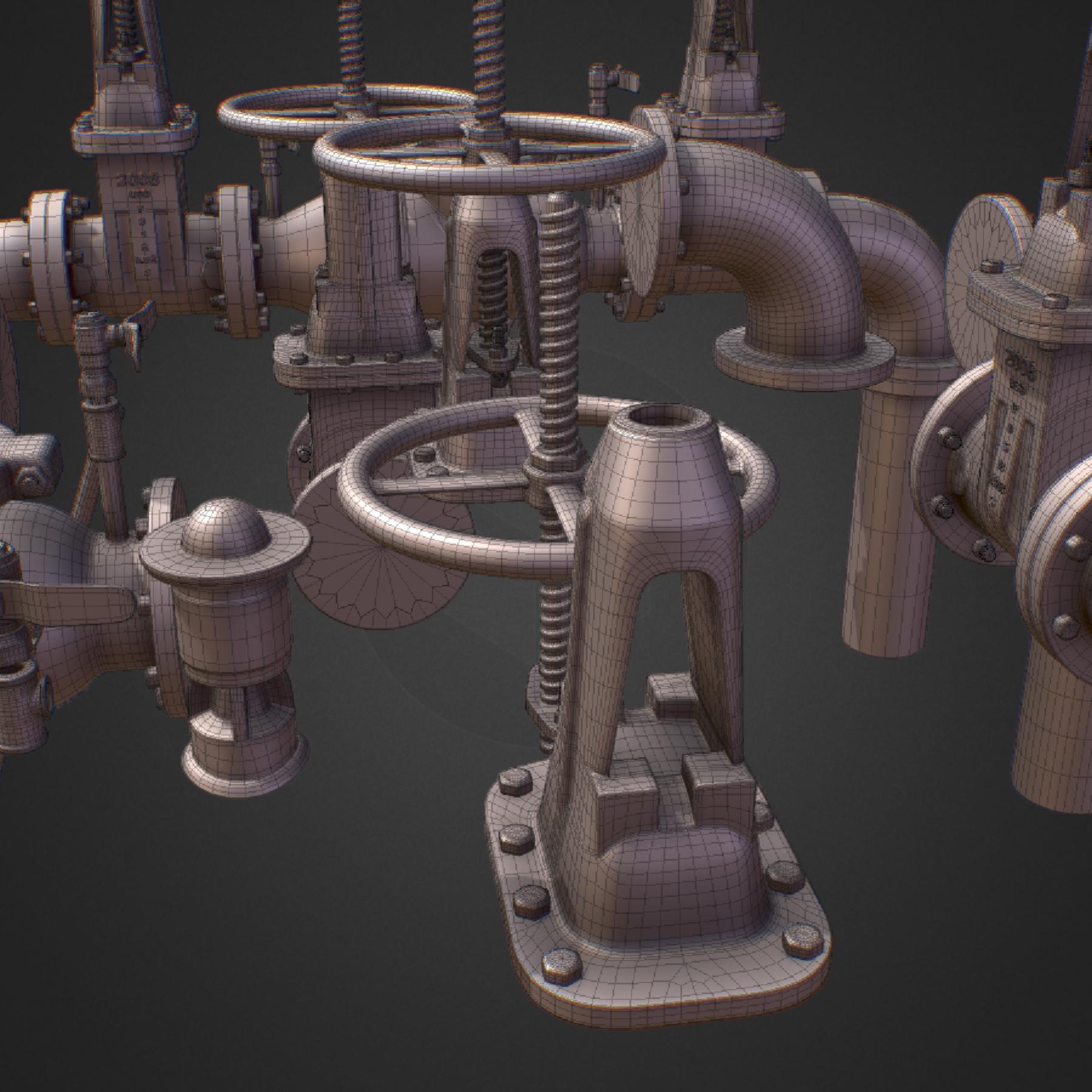 hi poly subdivision backflow pipe constructor 3d model max  fbx ma mb obj 272528