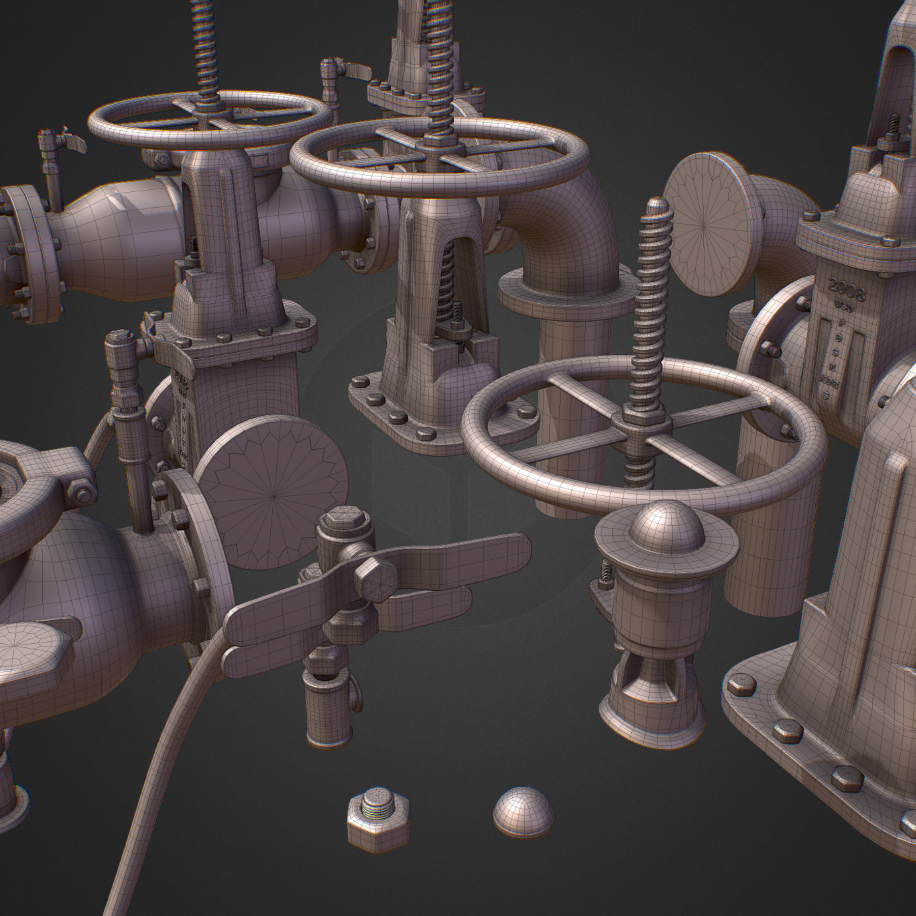 Hi Poly Subdivision Backflow Pipe Constructor 3d model max 3ds max plugin fbx ma mb obj 272529