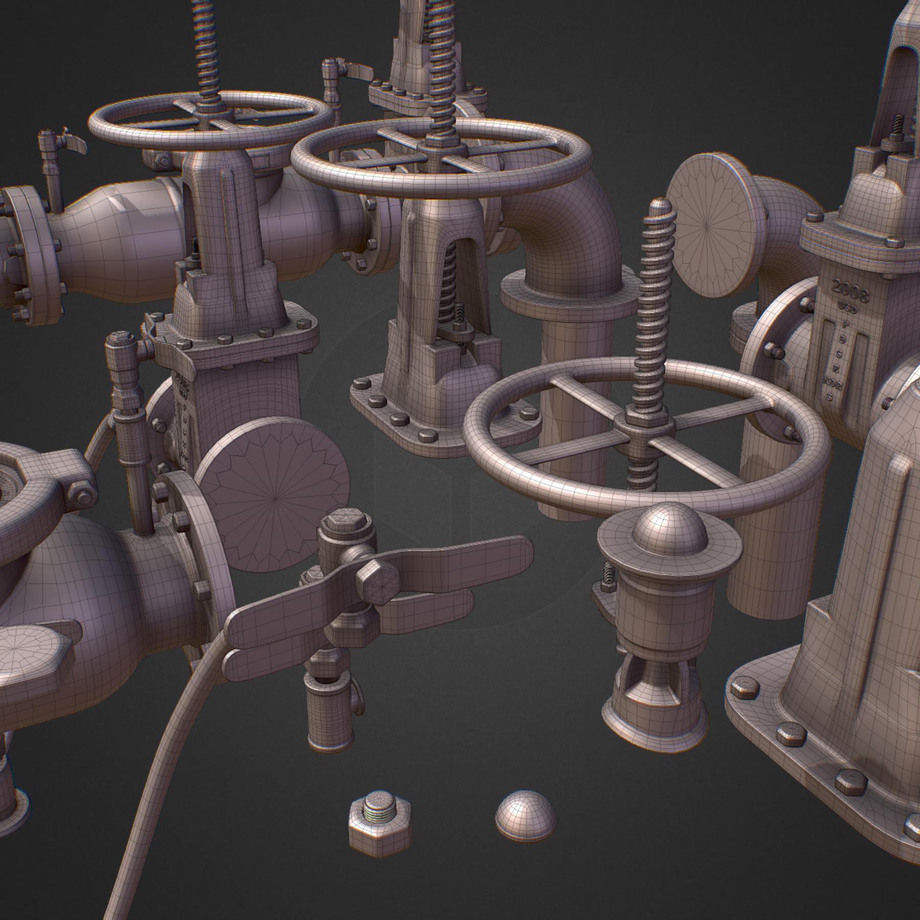 hi poly subdivision backflow pipe constructor 3d model max  fbx ma mb obj 272529
