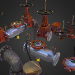 Low Poly ART Backflow Water Pipe Constructor 3d model  max 3ds max plugin fbx ma mb tga targa icb vda vst pix obj