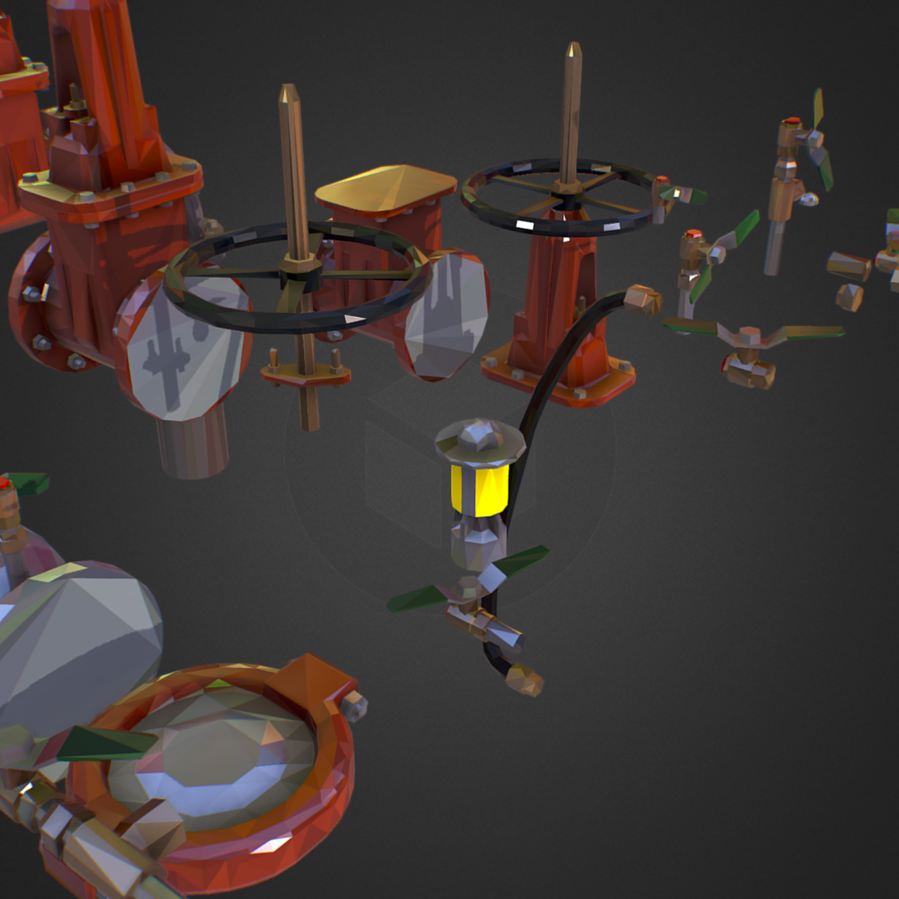 Low Poly ART Backflow Water Pipe Constructor 3d model max 3ds max plugin fbx ma mb tga targa icb vda vst pix obj 272549