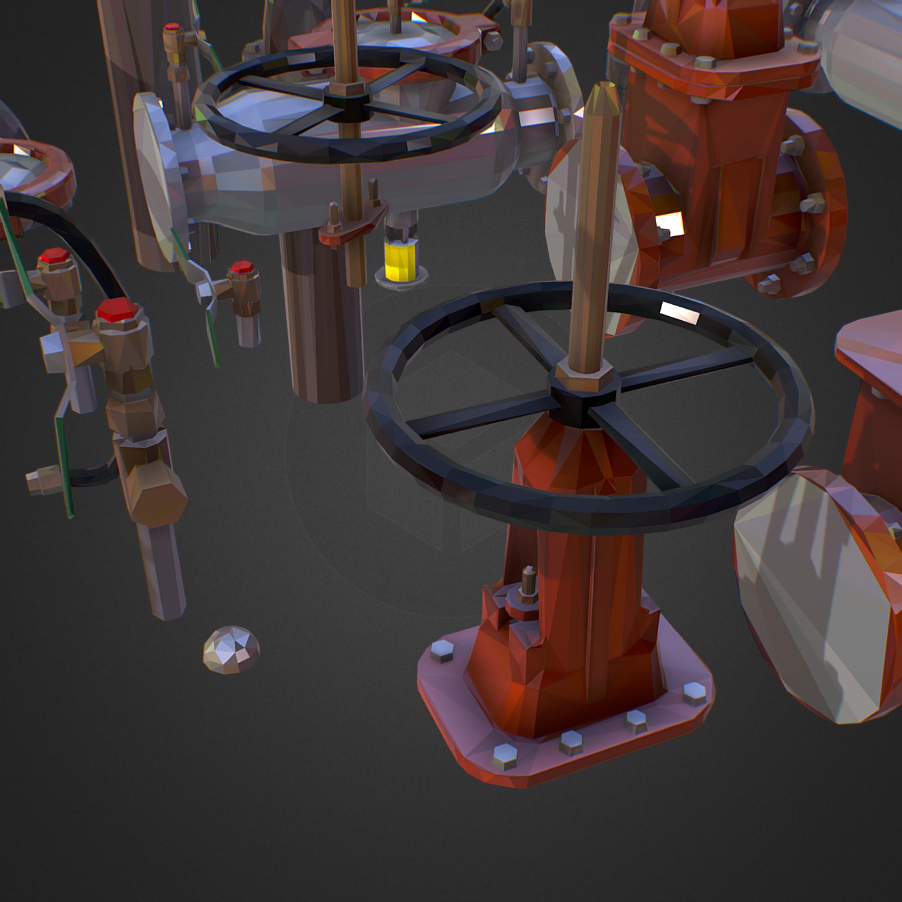 Low Poly ART Backflow Water Pipe Constructor 3d model max 3ds max plugin fbx ma mb tga targa icb vda vst pix obj 272551