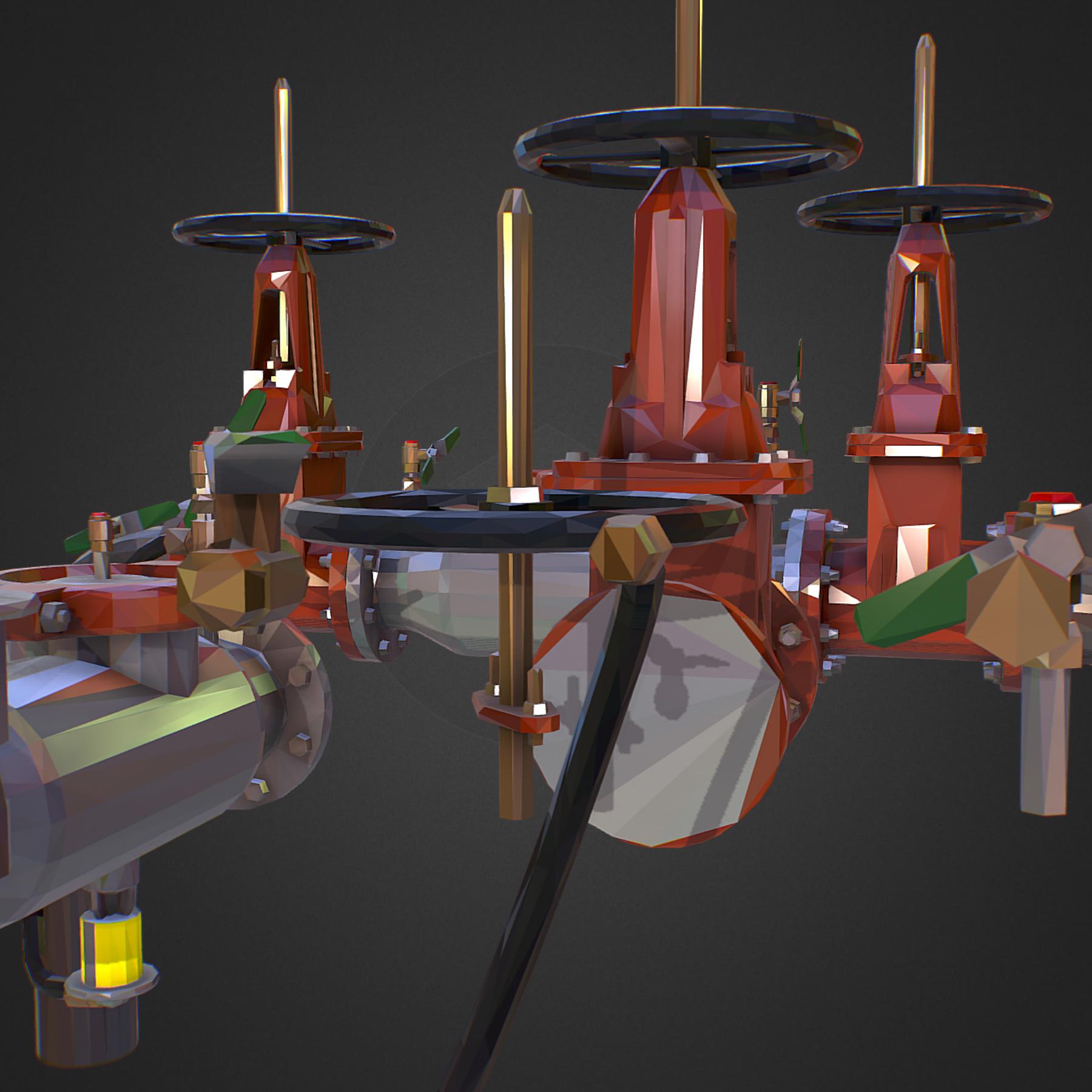 χαμηλός πολυεστιακός κατασκευαστής σωληνώσεων νερού επιστροφής ροής 3d max fbx ma mb tga targa icb vda vst pix obj 272560