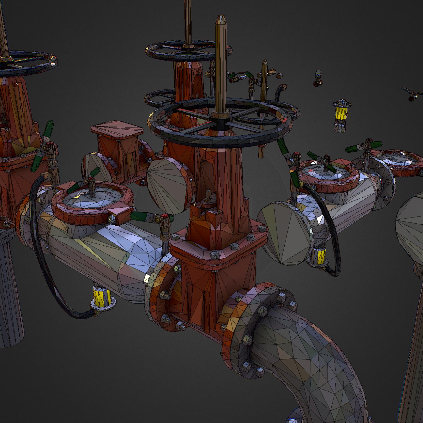 Low Poly ART Backflow Water Pipe Constructor 3d model max 3ds max plugin fbx ma mb tga targa icb vda vst pix obj 272569