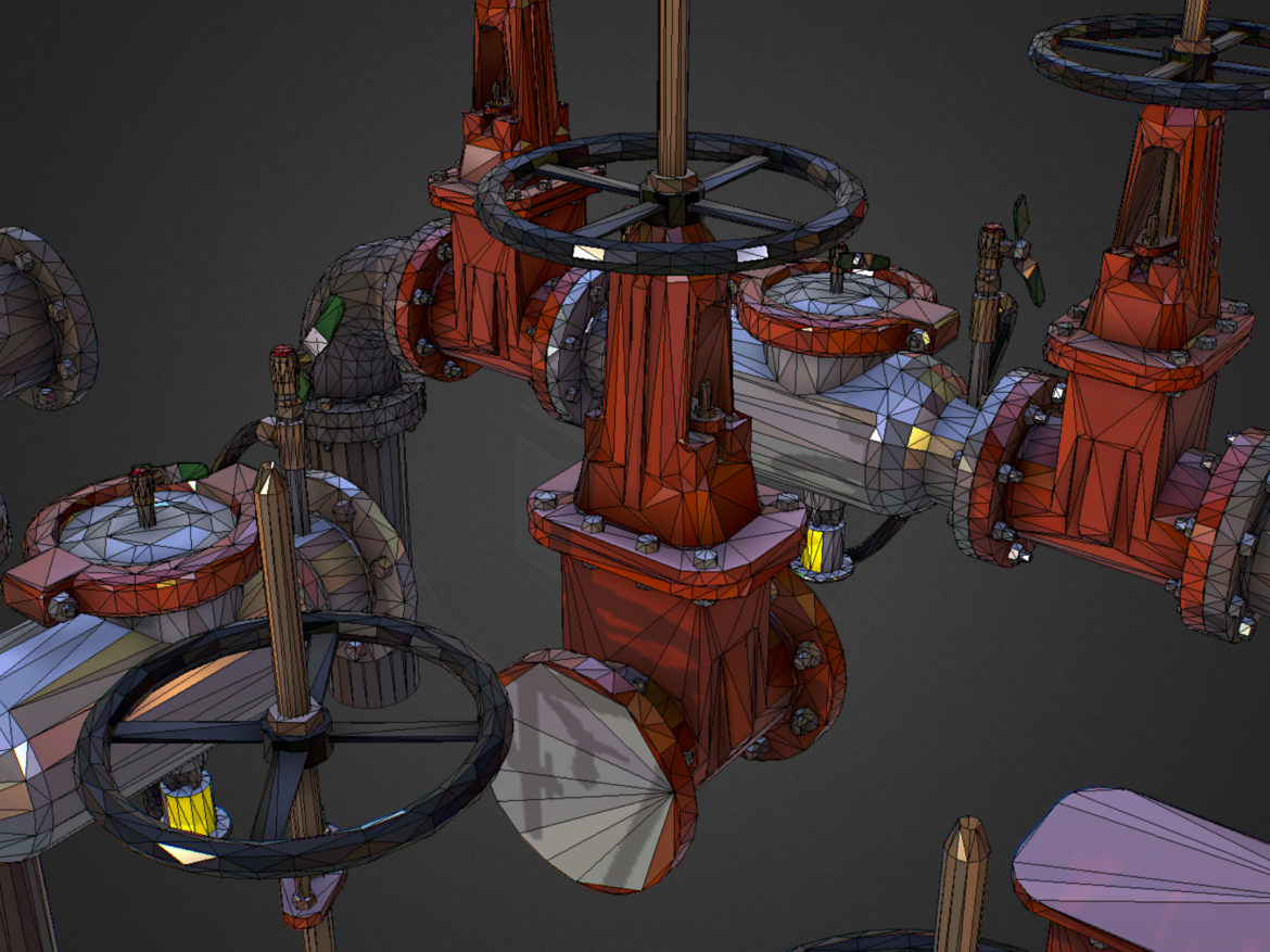 Low Poly ART Backflow Water Pipe Constructor 3d model 0