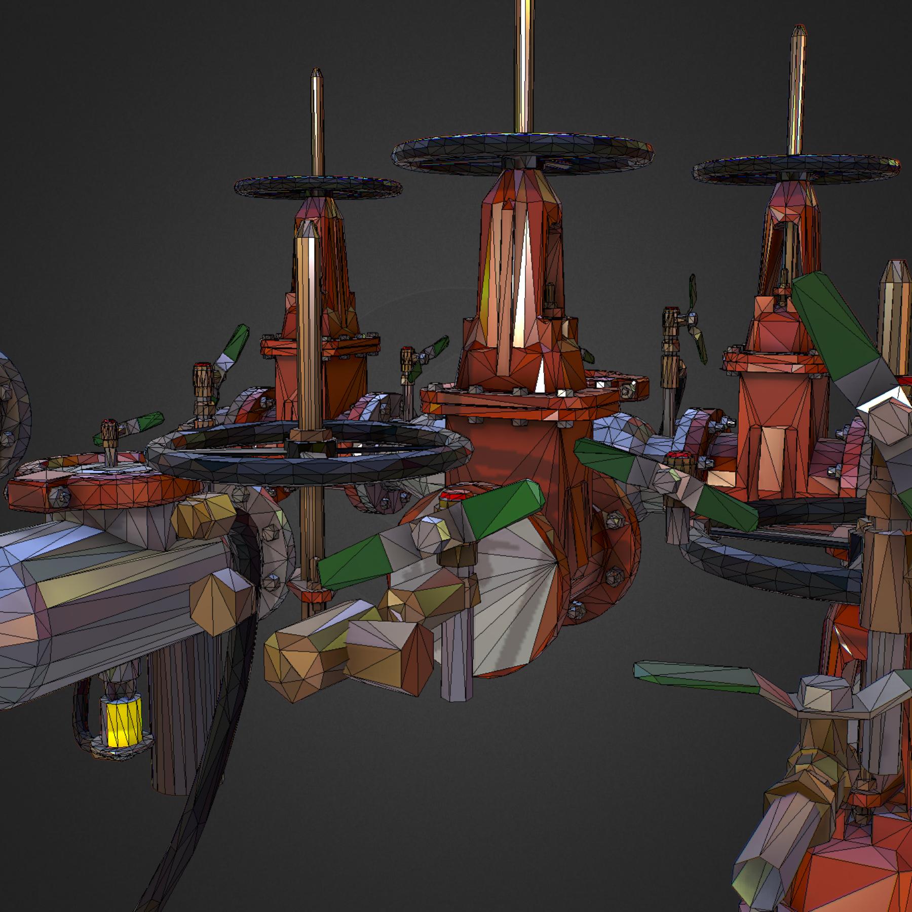 Low Poly ART Backflow Water Pipe Constructor 3d model max 3ds max plugin fbx ma mb tga targa icb vda vst pix obj 272573