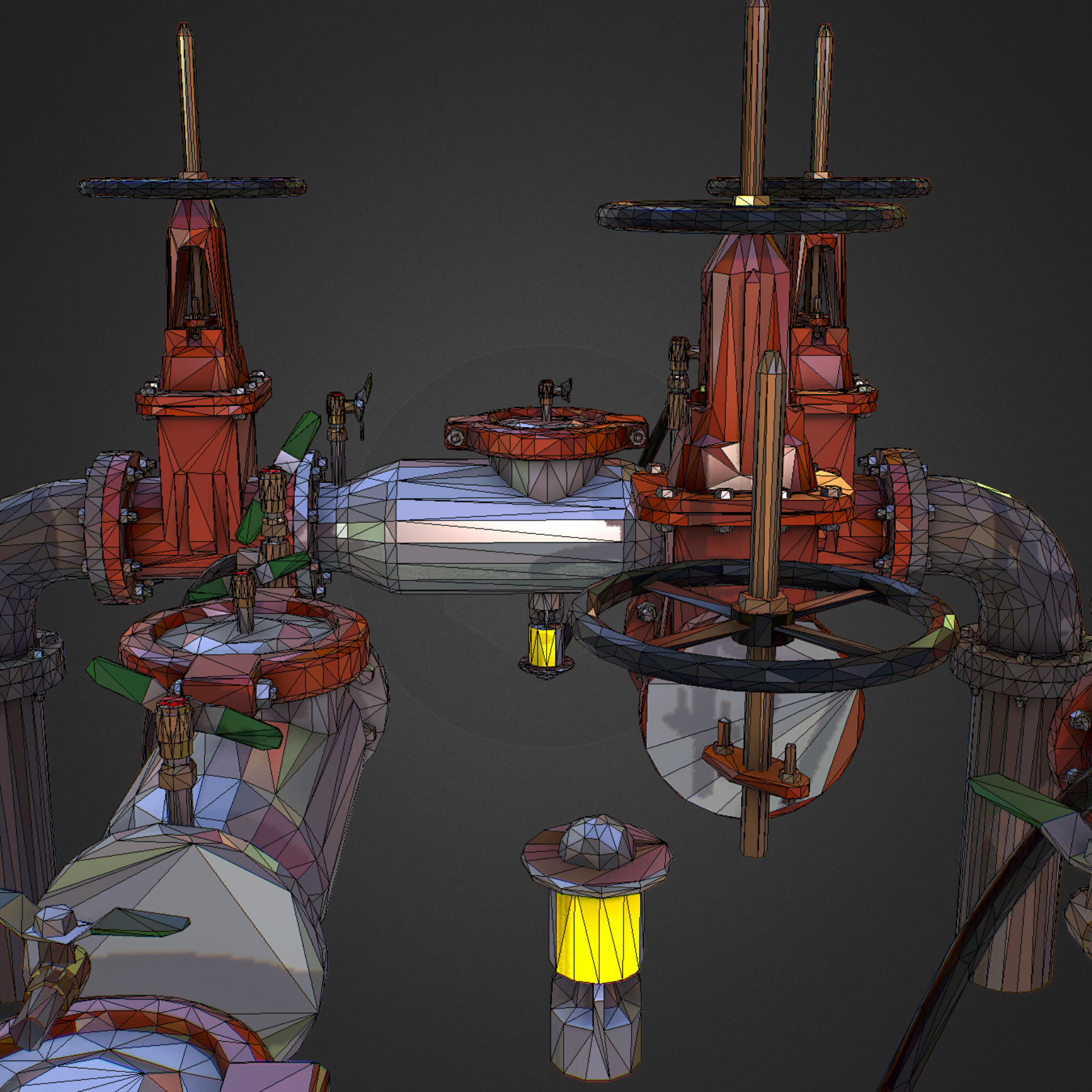 χαμηλός πολυεστιακός κατασκευαστής σωληνώσεων νερού επιστροφής ροής 3d max fbx ma mb tga targa icb vda vst pix obj 272574