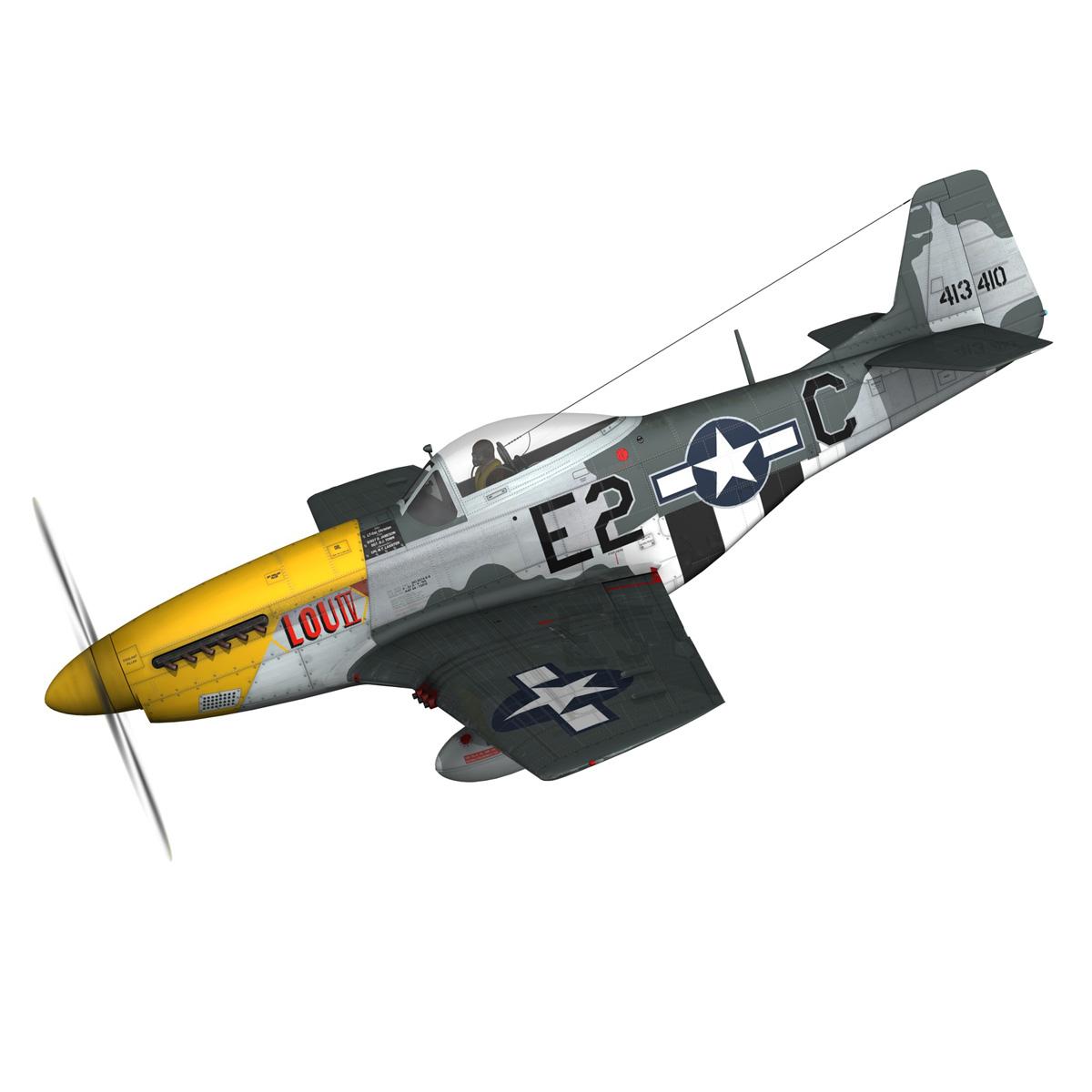 north american p-51d mustang – lou iv 3d model fbx c4d lwo obj 272599