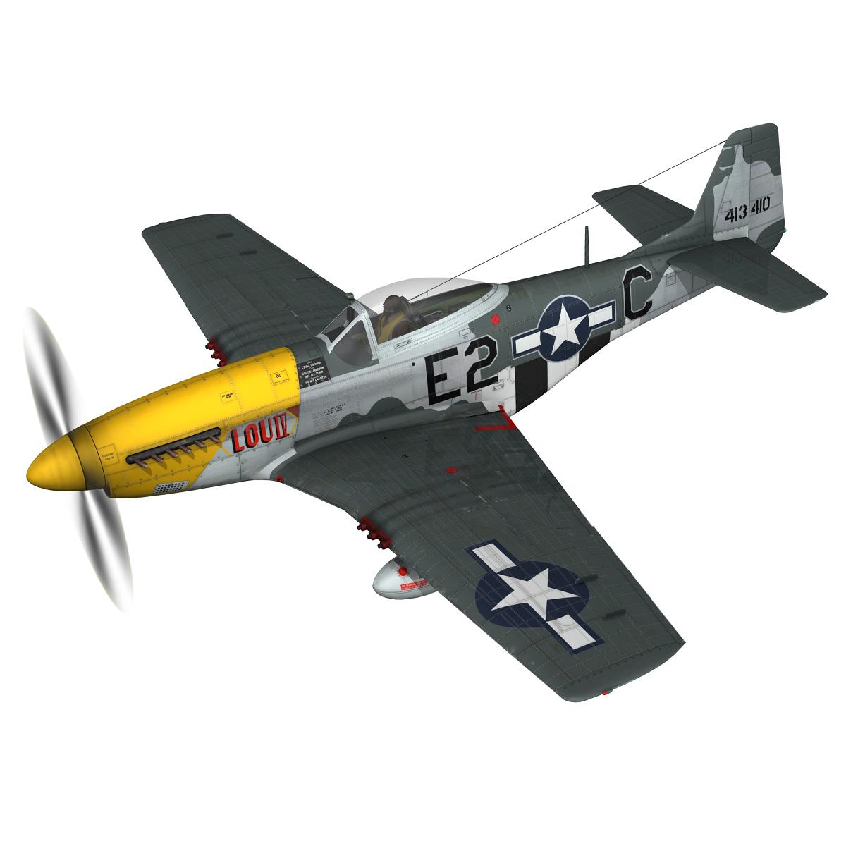 north american p-51d mustang – lou iv 3d model fbx c4d lwo obj 272600