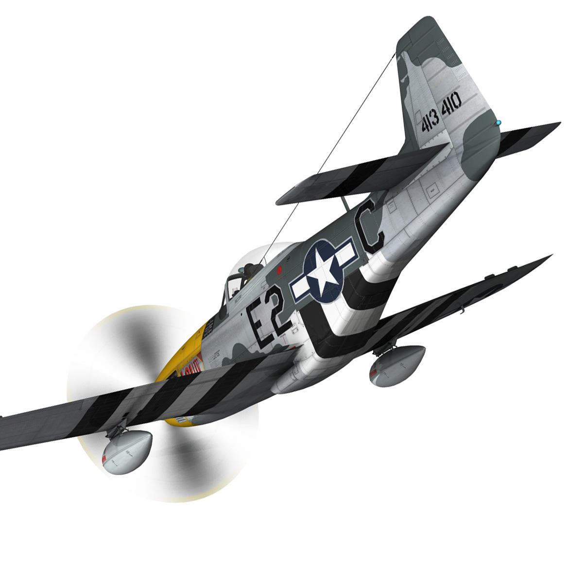 north american p-51d mustang – lou iv 3d model fbx c4d lwo obj 272601