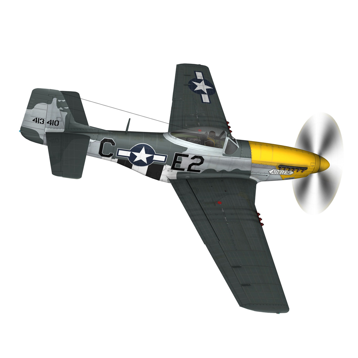 north american p-51d mustang – lou iv 3d model fbx c4d lwo obj 272602