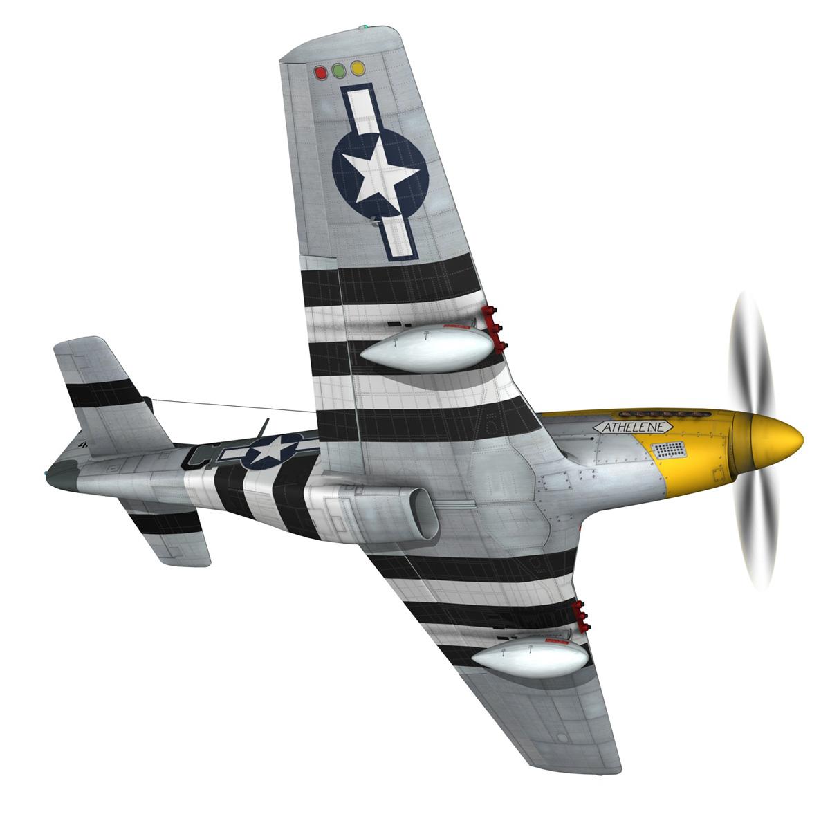 north american p-51d mustang – lou iv 3d model fbx c4d lwo obj 272603