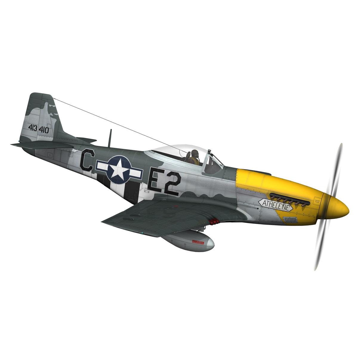north american p-51d mustang – lou iv 3d model fbx c4d lwo obj 272604