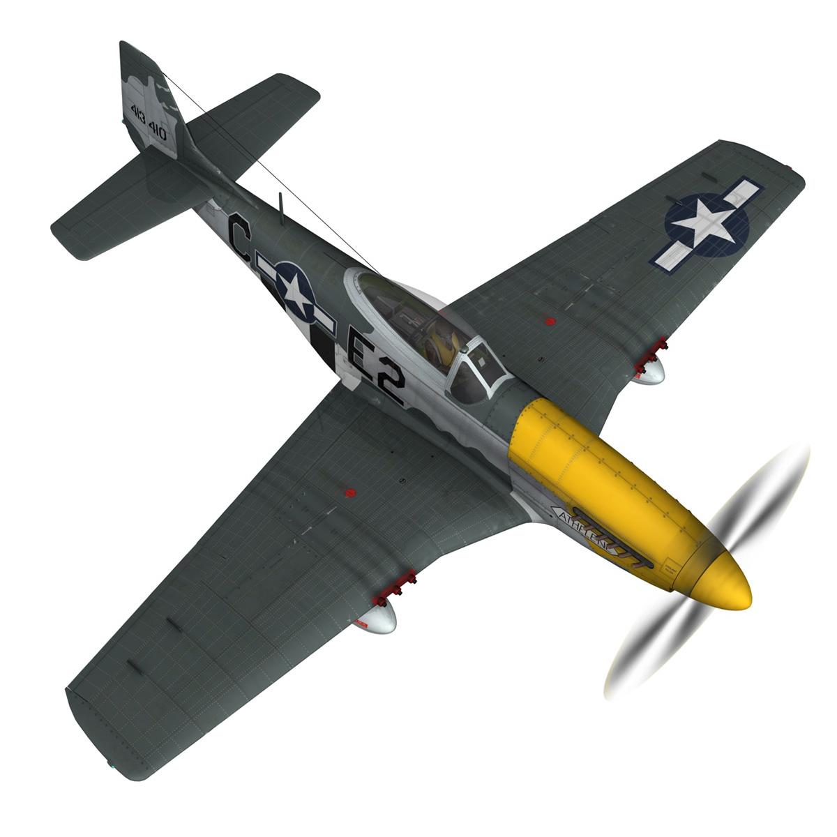 north american p-51d mustang – lou iv 3d model fbx c4d lwo obj 272605