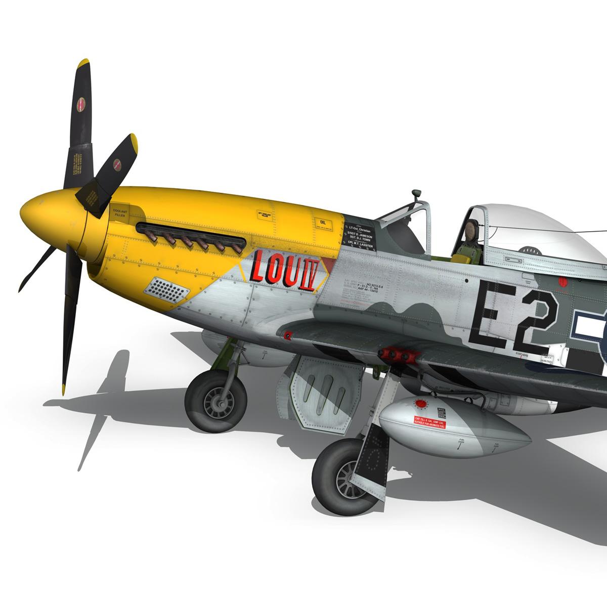 north american p-51d mustang – lou iv 3d model fbx c4d lwo obj 272607