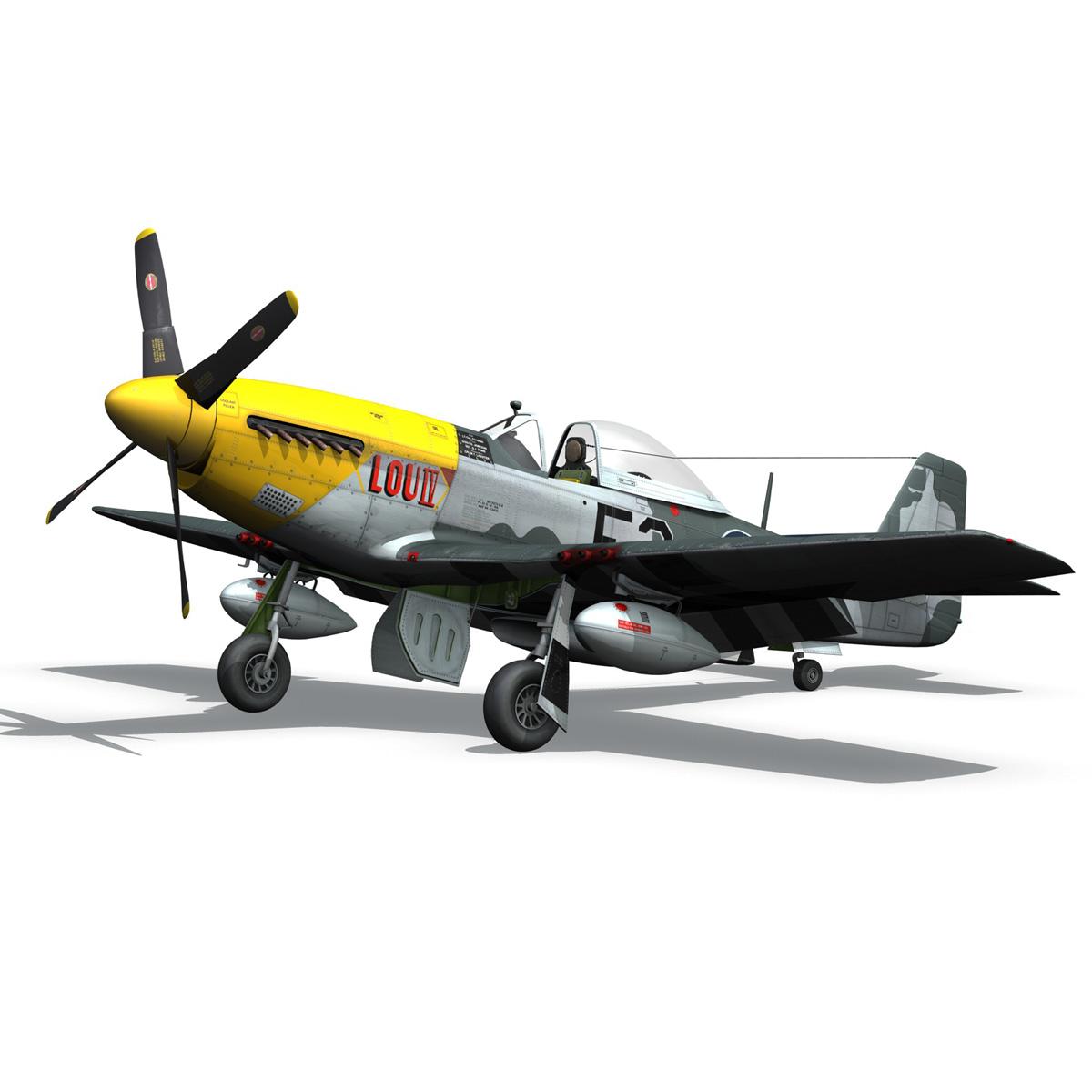 north american p-51d mustang – lou iv 3d model fbx c4d lwo obj 272608
