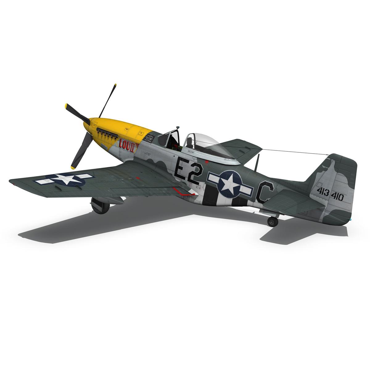 north american p-51d mustang – lou iv 3d model fbx c4d lwo obj 272609
