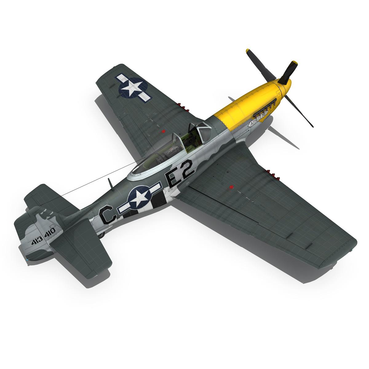 north american p-51d mustang – lou iv 3d model fbx c4d lwo obj 272610