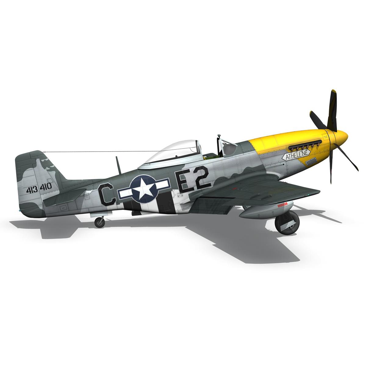 north american p-51d mustang – lou iv 3d model fbx c4d lwo obj 272611