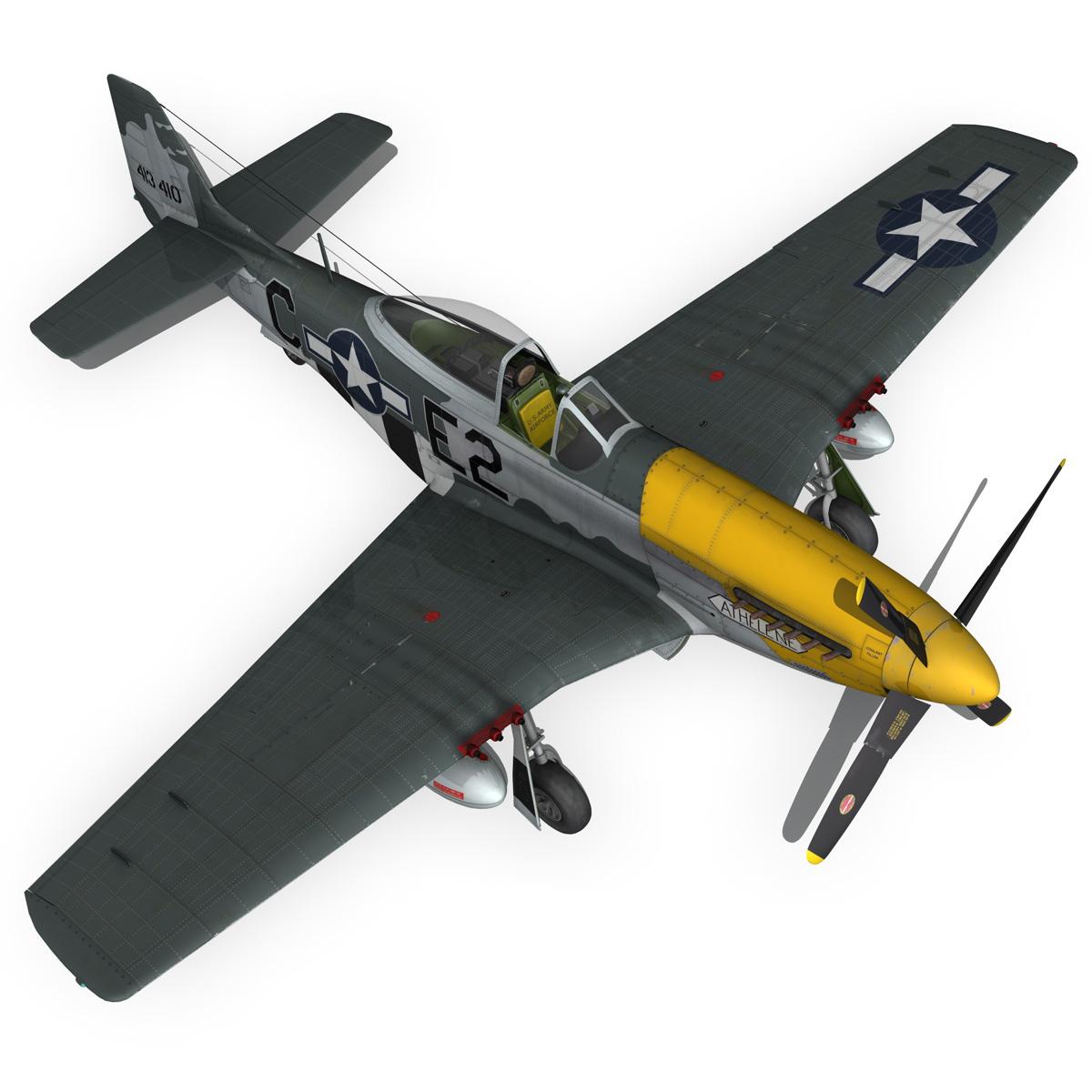 north american p-51d mustang – lou iv 3d model fbx c4d lwo obj 272612