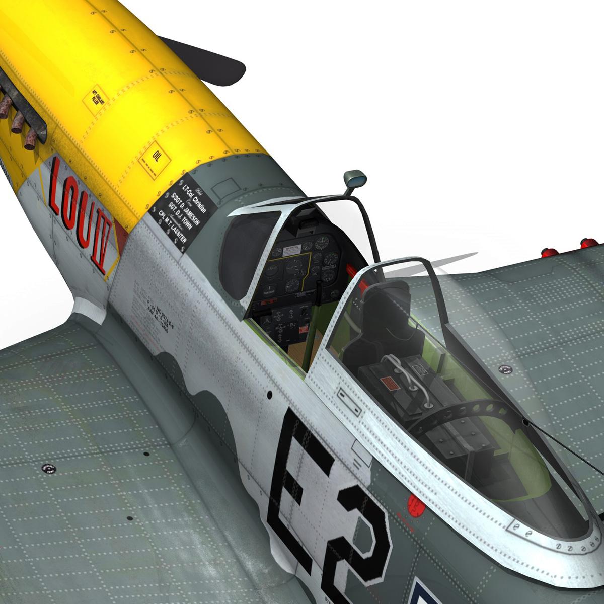 north american p-51d mustang – lou iv 3d model fbx c4d lwo obj 272613