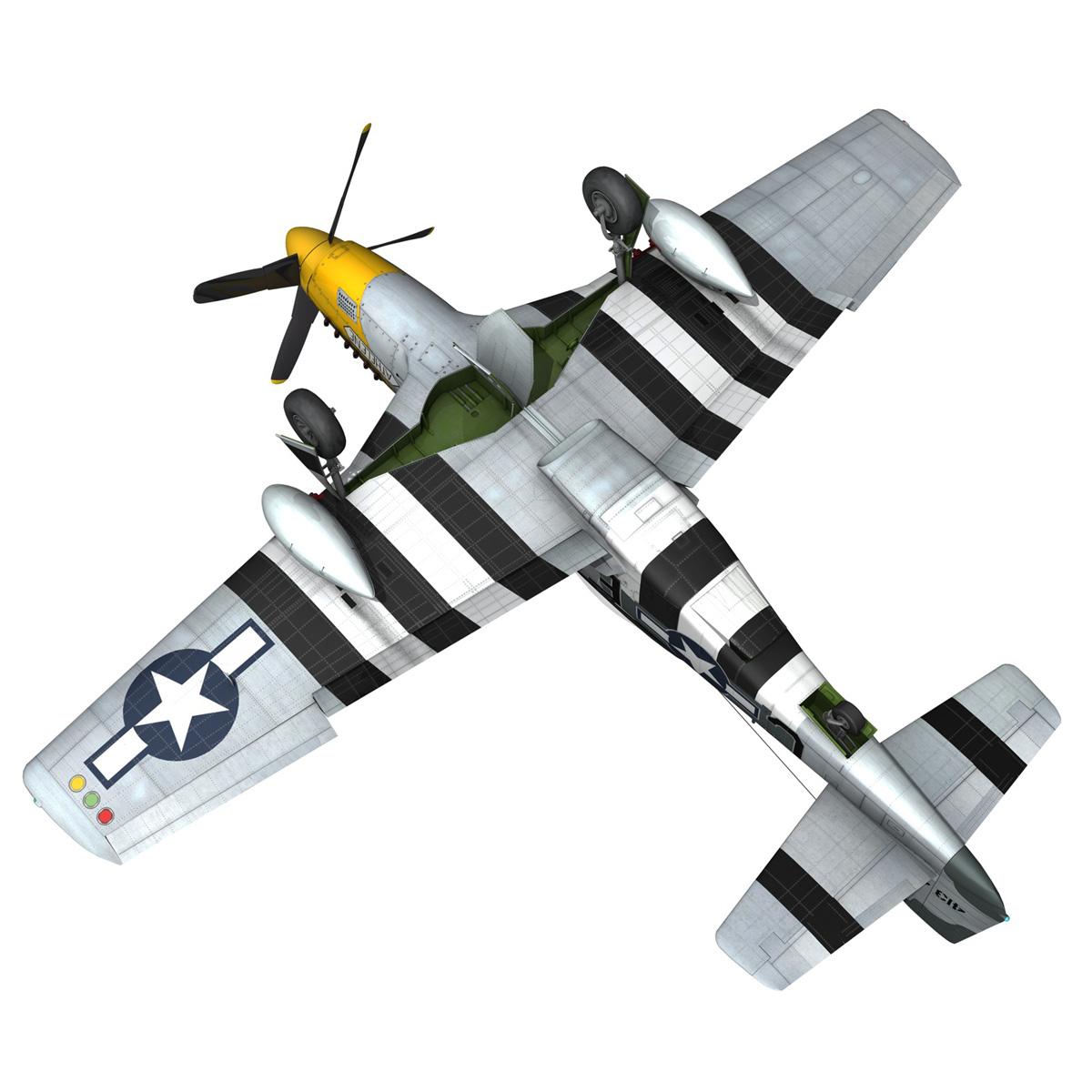 north american p-51d mustang – lou iv 3d model fbx c4d lwo obj 272614