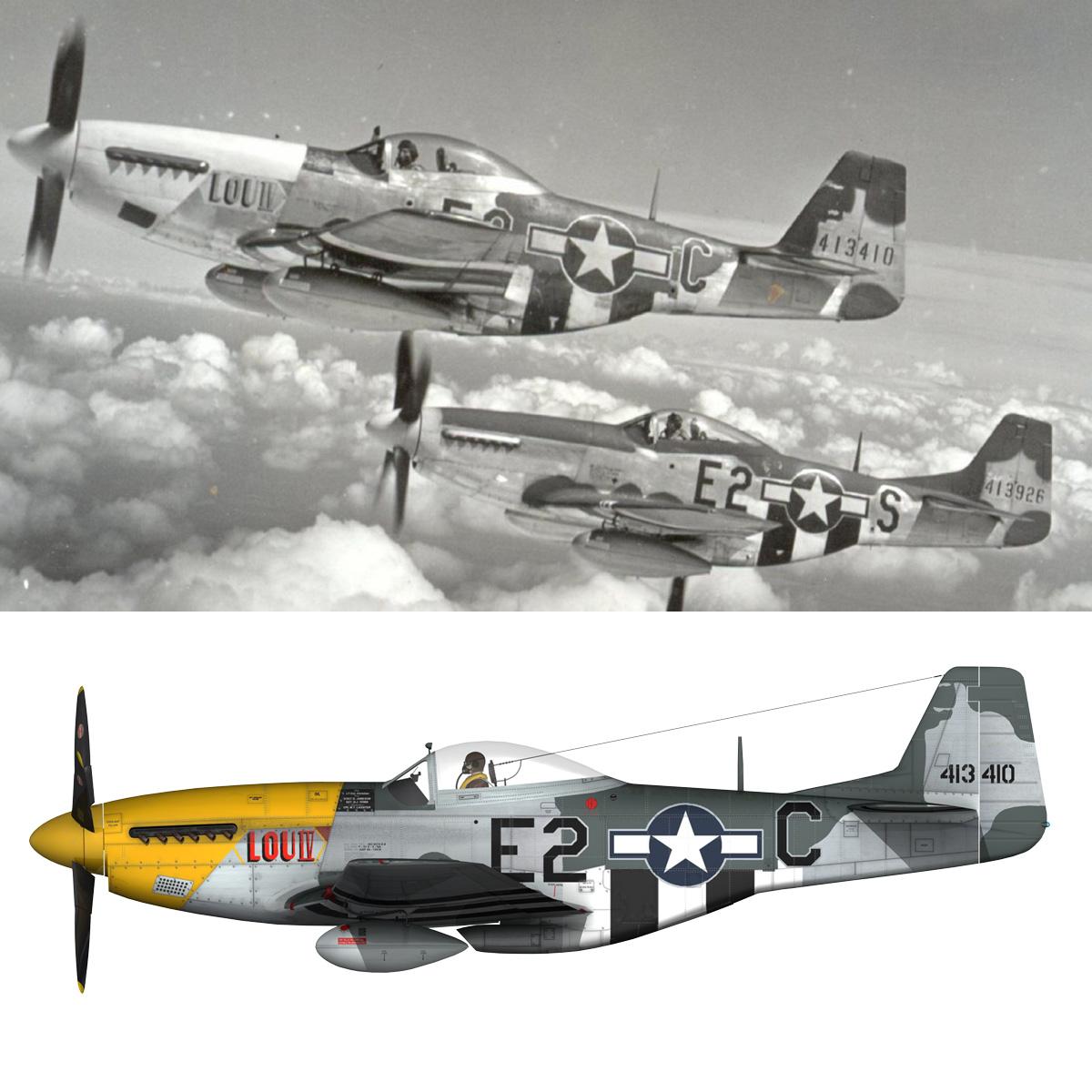 north american p-51d mustang – lou iv 3d model fbx c4d lwo obj 272615