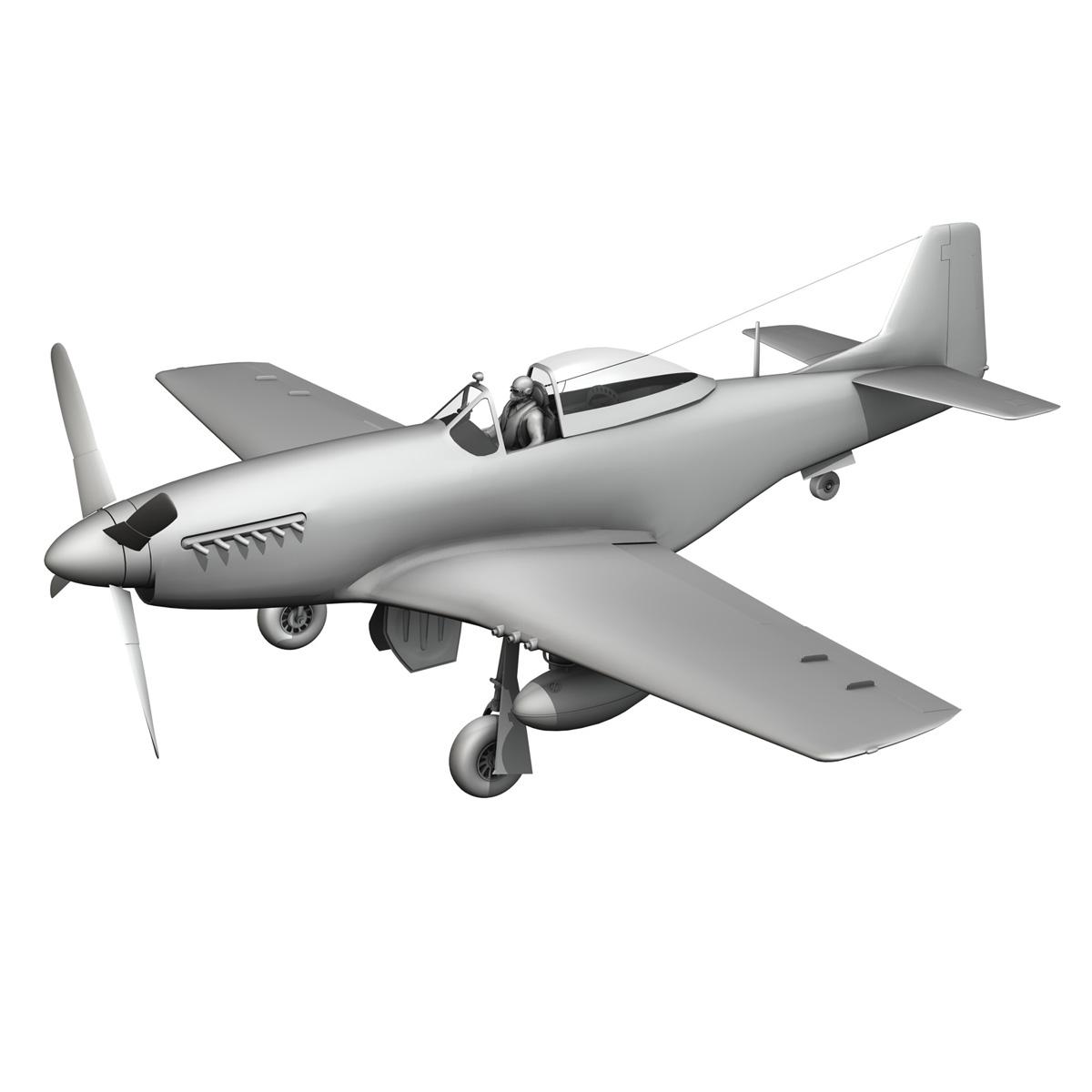 north american p-51d mustang – lou iv 3d model fbx c4d lwo obj 272616