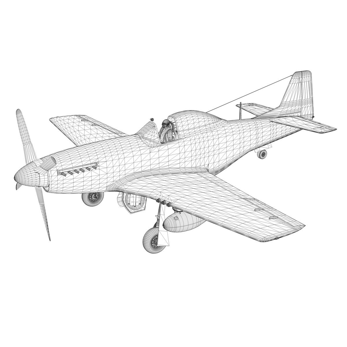 north american p-51d mustang – lou iv 3d model fbx c4d lwo obj 272617
