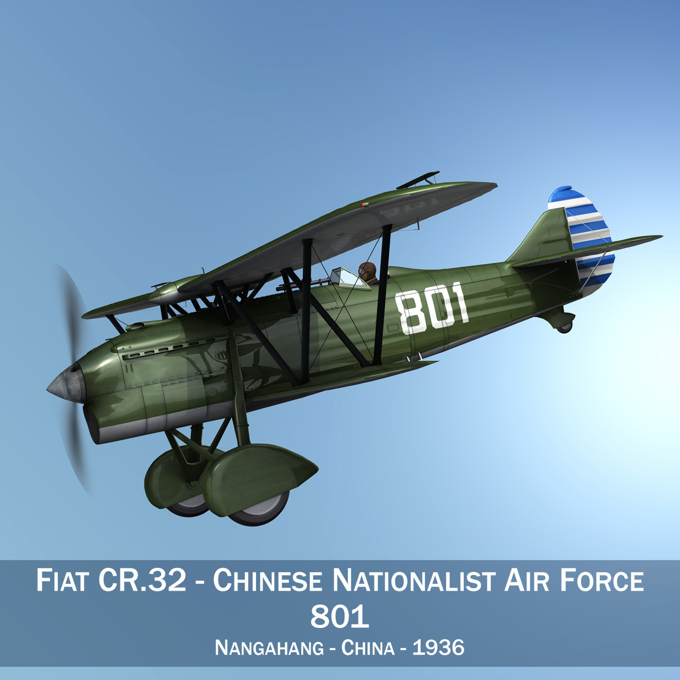 fiat cr.32 – chinese nationalist air force 3d model fbx c4d lwo obj 272624