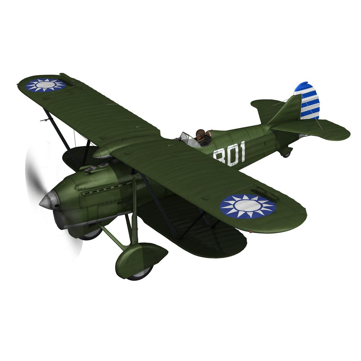 fiat cr.32 – chinese nationalist air force 3d model fbx c4d lwo obj 272625