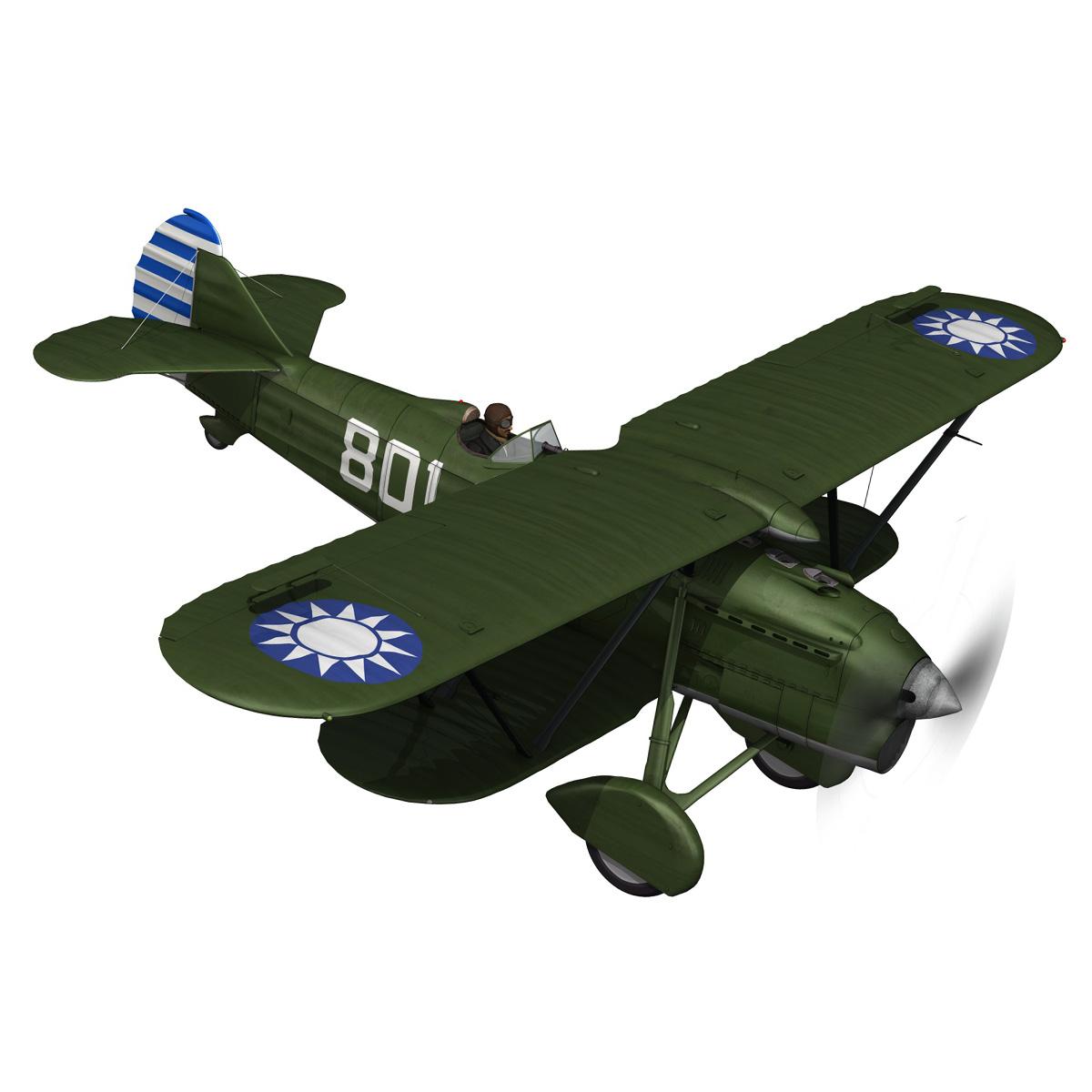 fiat cr.32 – chinese nationalist air force 3d model fbx c4d lwo obj 272627