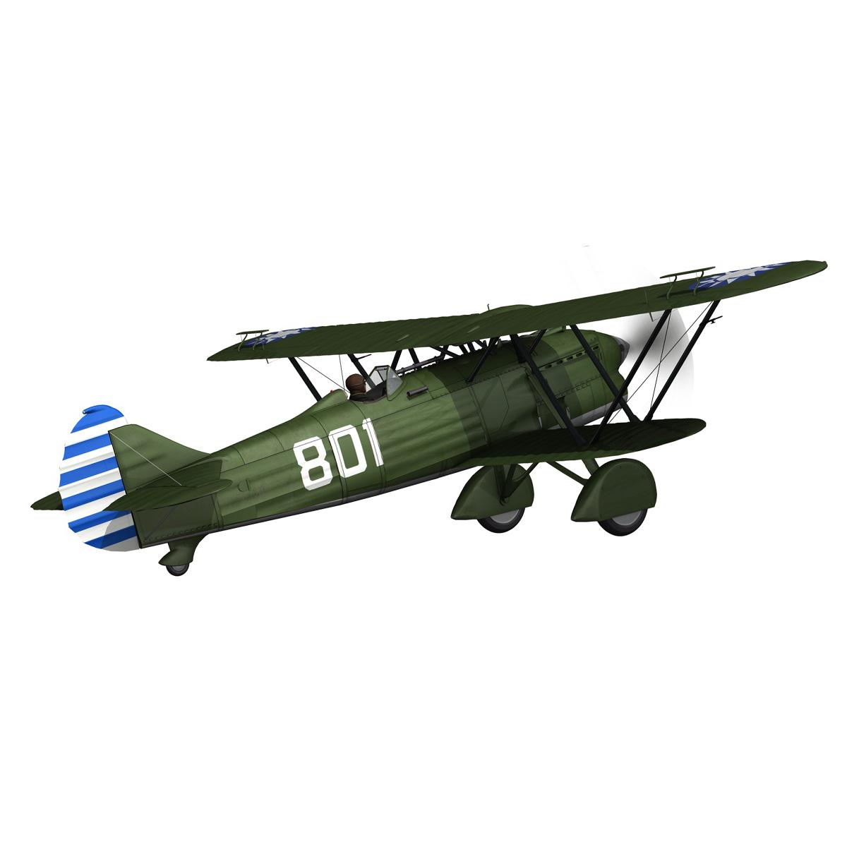 fiat cr.32 – chinese nationalist air force 3d model fbx c4d lwo obj 272628