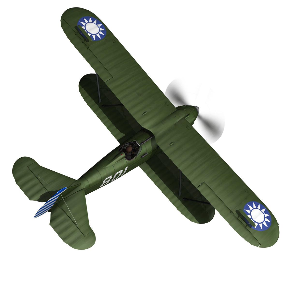 fiat cr.32 – chinese nationalist air force 3d model fbx c4d lwo obj 272629