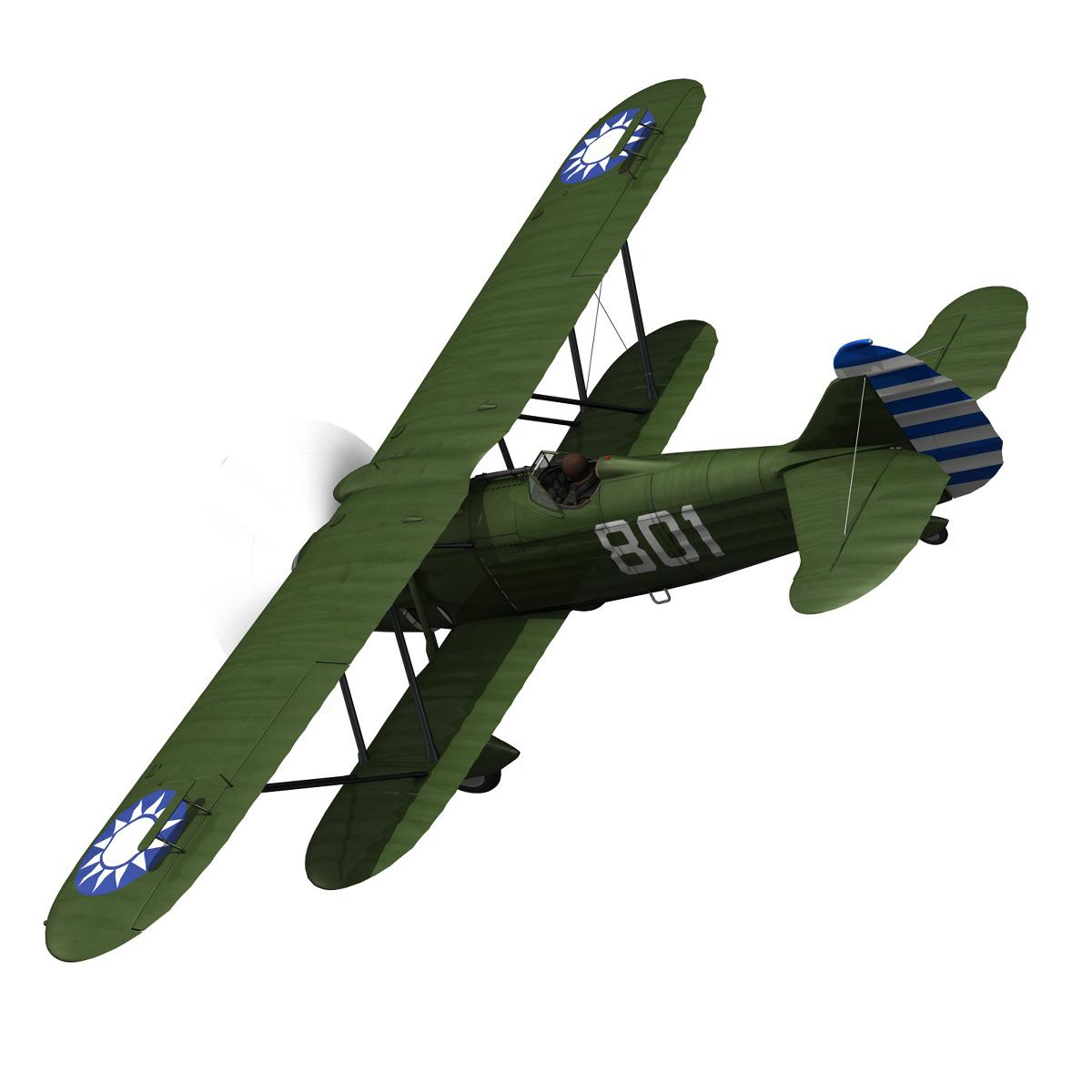 fiat cr.32 – chinese nationalist air force 3d model fbx c4d lwo obj 272630