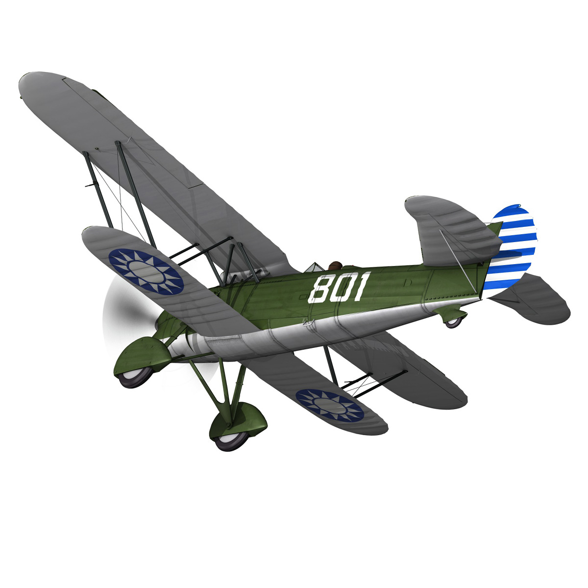 fiat cr.32 – chinese nationalist air force 3d model fbx c4d lwo obj 272631