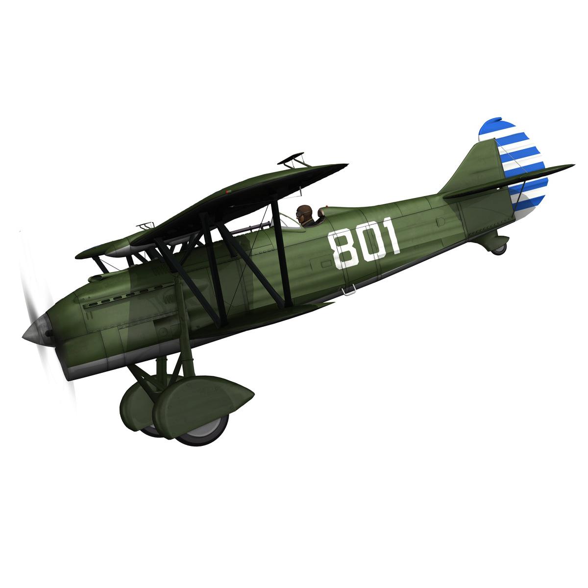 fiat cr.32 – chinese nationalist air force 3d model fbx c4d lwo obj 272632