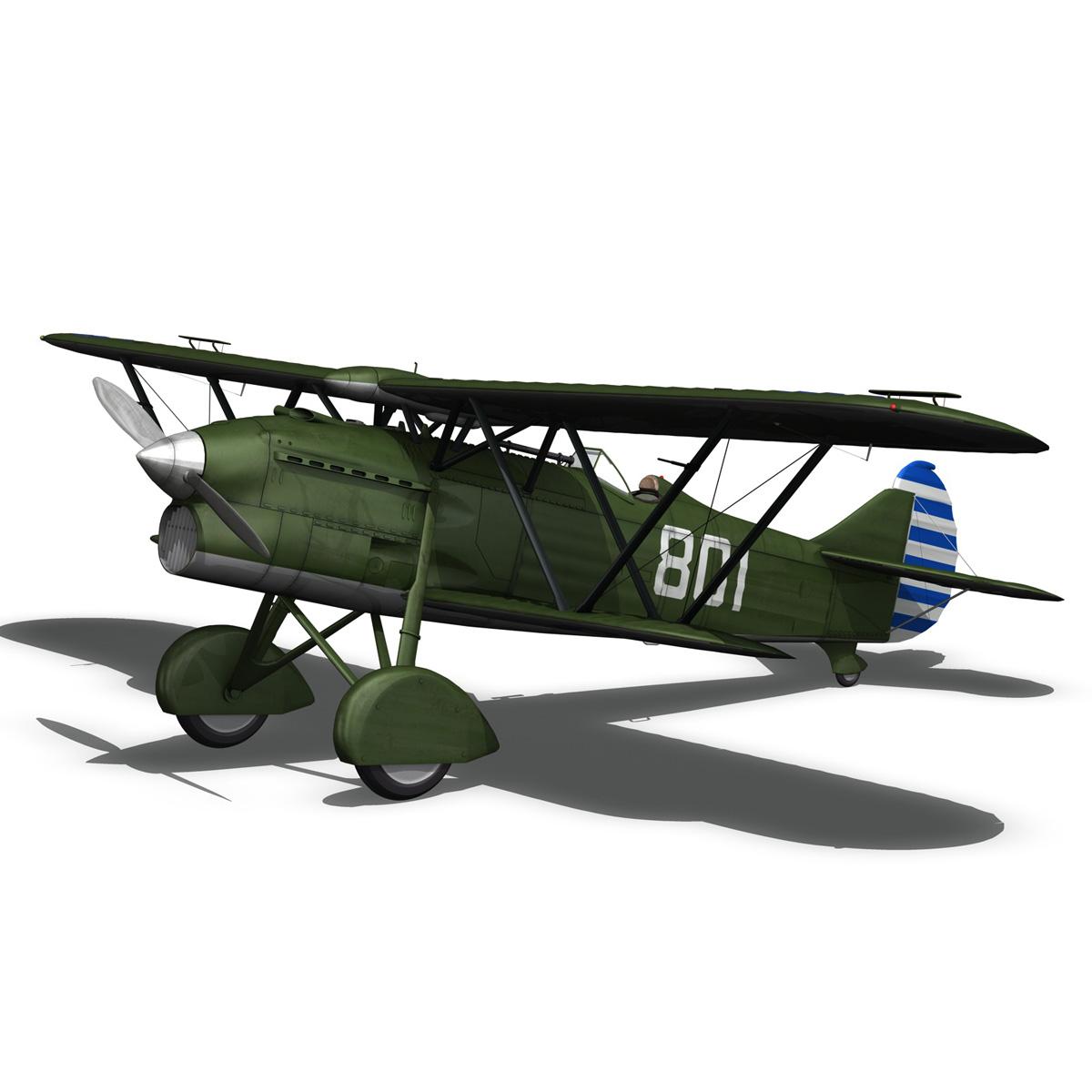 fiat cr.32 – chinese nationalist air force 3d model fbx c4d lwo obj 272635