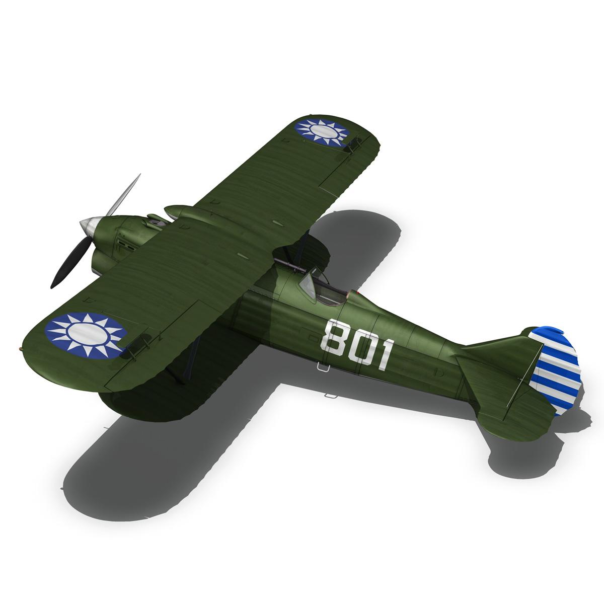 fiat cr.32 – chinese nationalist air force 3d model fbx c4d lwo obj 272636