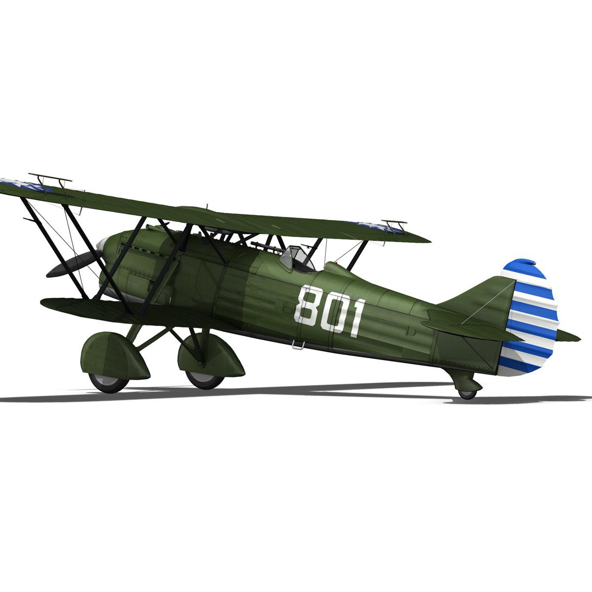 fiat cr.32 – chinese nationalist air force 3d model fbx c4d lwo obj 272637