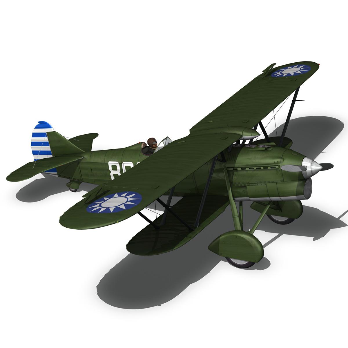 fiat cr.32 – chinese nationalist air force 3d model fbx c4d lwo obj 272640