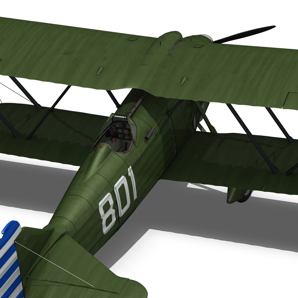 fiat cr.32 – chinese nationalist air force 3d model fbx c4d lwo obj 272641