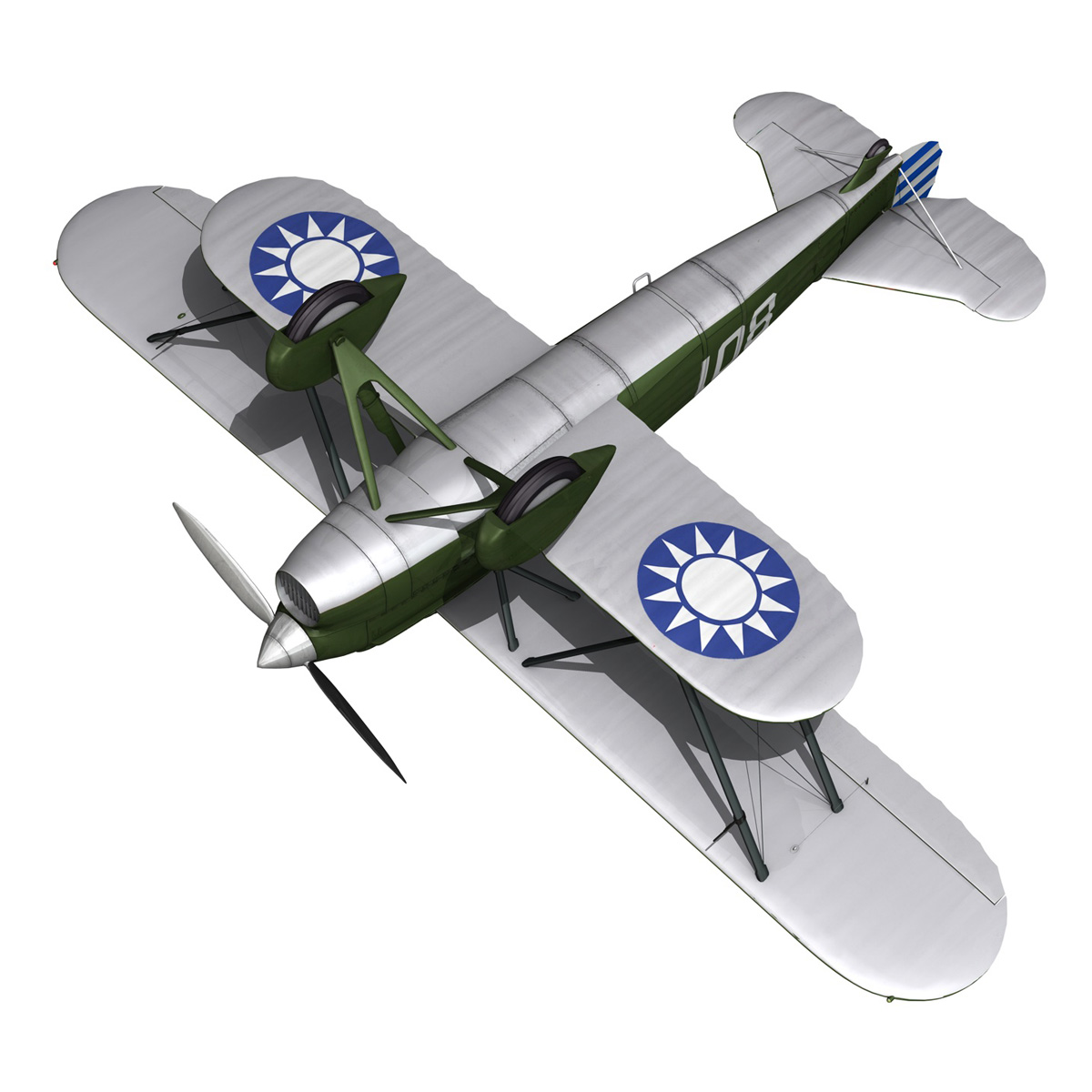 fiat cr.32 – chinese nationalist air force 3d model fbx c4d lwo obj 272642